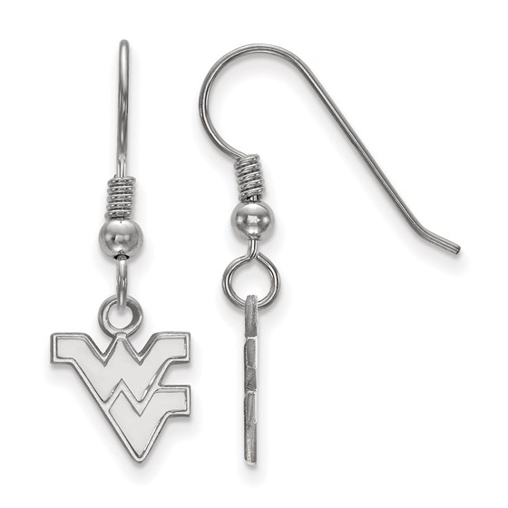Sterling Silver West Virginia University Dangle Earrings
