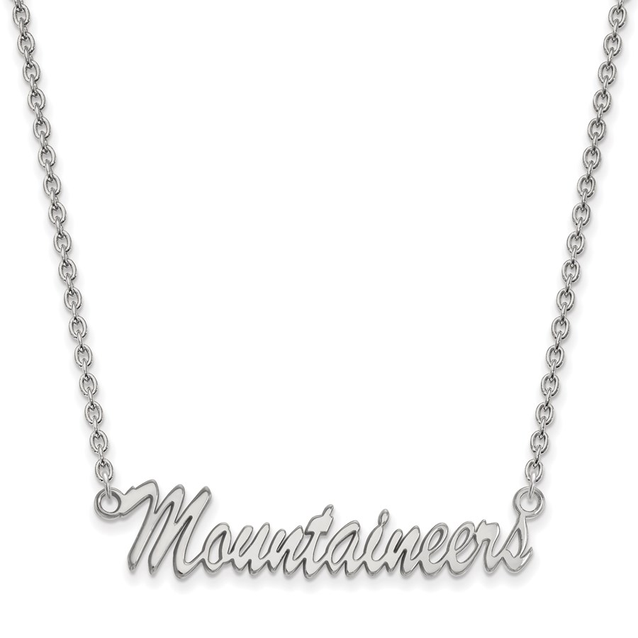 Sterling Silver West Virginia University Necklace - 18 in.