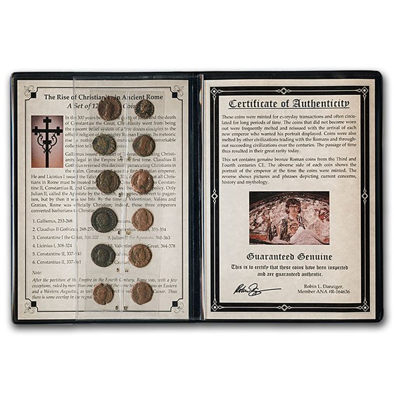 Story Album: Roman Bronze 12-Coin Collection Rise of Christianity