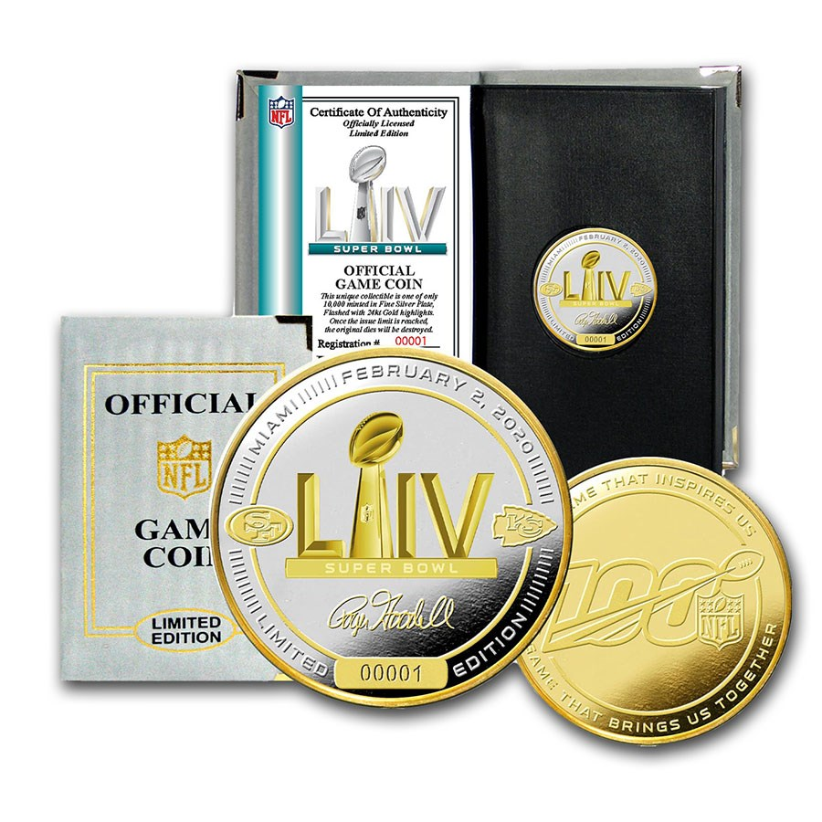 Super Bowl LIV Official 2-Tone Flip Coin - 49ers vs. Chiefs