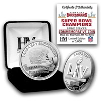 Super Bowl LV 1 oz Silver Champion Coin: Tampa Bay Buccaneers