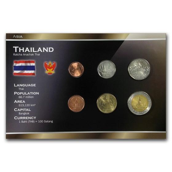 Thailand 25 Satang - 10 Baht 6-Coin Set BU