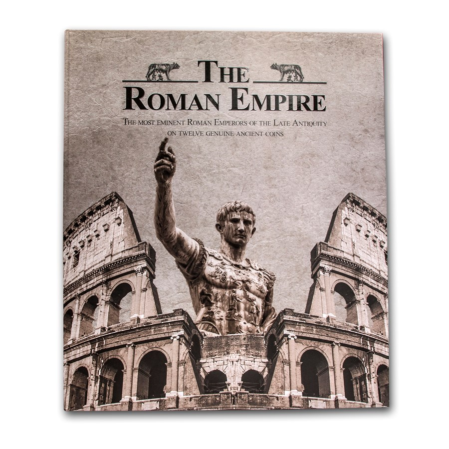 The Decline of the Roman Empire 12-Coin Collection with Map