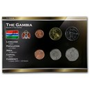 The Gambia 1 Butut-1 Dalasi 6-Coin Set Unc