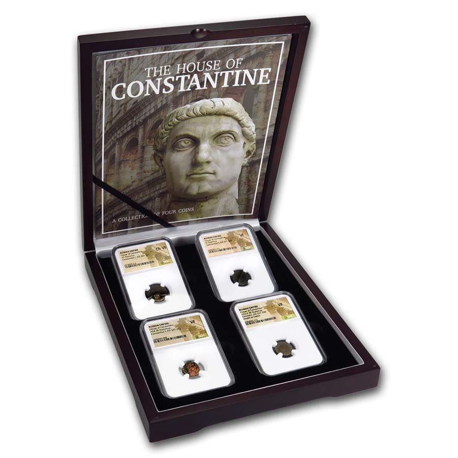 The House of Constantine: 4 Coin Collection (307-361 AD)