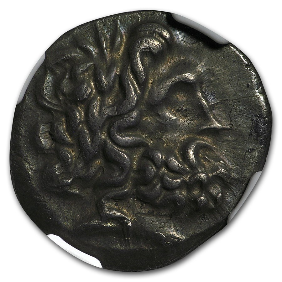 Thessalian League Ag Dbl Victoriatus (2nd-1st cent. BC) XF NGC