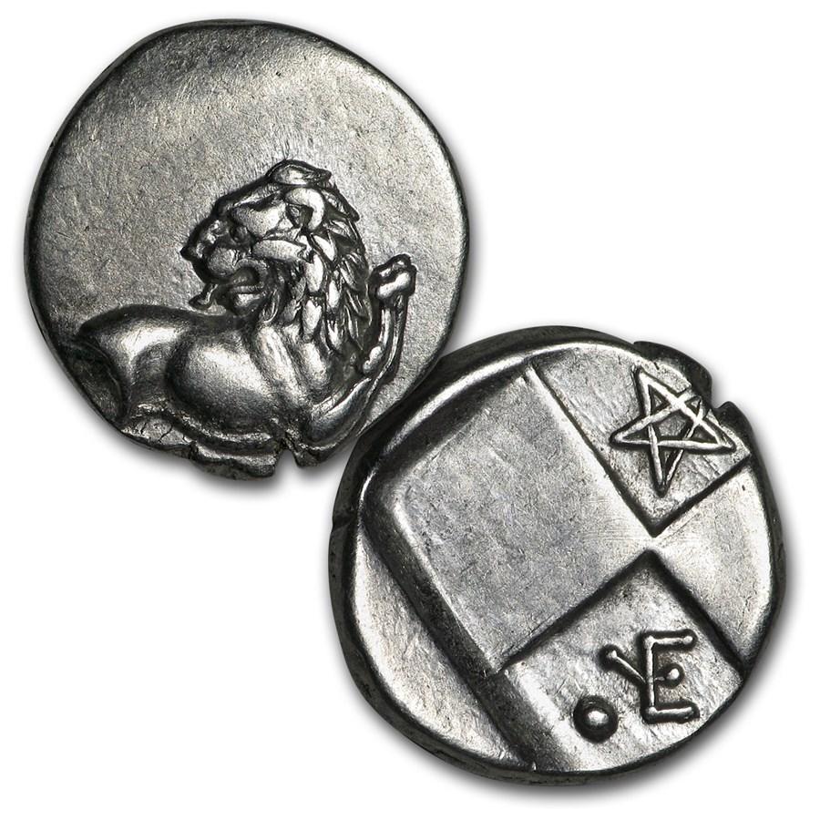Thrace Chersonesus Silver Hemidrachm Lion (400-350 BC) VG-XF