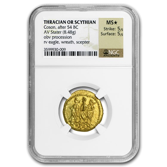 Thracian/Scythian Gold Stater MS* NGC (1st Century BC)