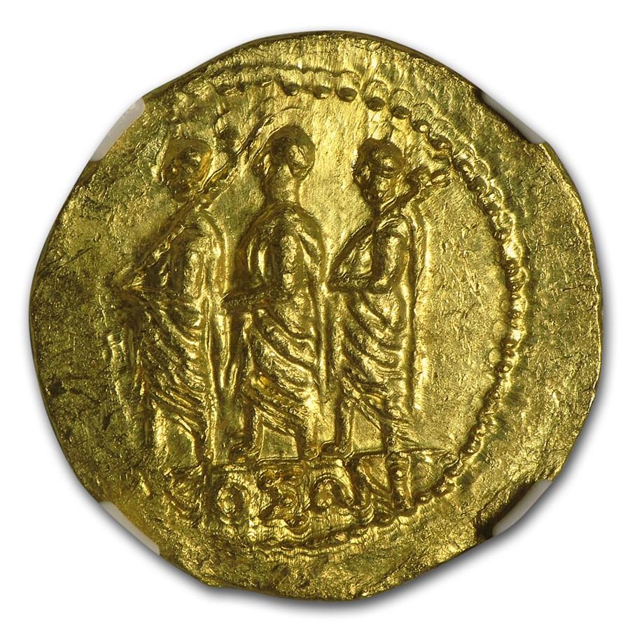 Thracian/Scythian Gold Stater w/Monogram (1st Century BC) MS NGC