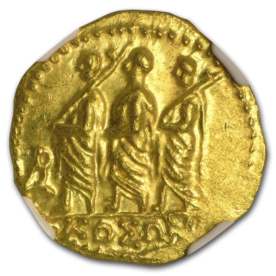 Thracian/Scythian Gold Stater w/Monogram MS NGC (1st Century BC)