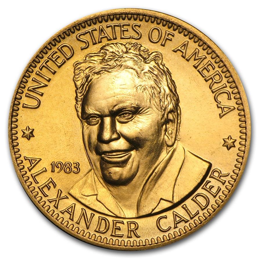 U.S. Mint 1/2 oz Gold Commemorative Arts Medal Alexander Calder