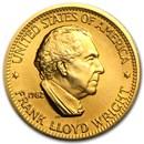 U.S. Mint 1/2 oz Gold Commemorative Arts Medal Frank Lloyd Wright