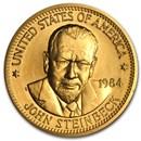 U.S. Mint 1/2 oz Gold Commemorative Arts Medal John Steinbeck