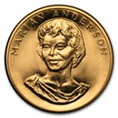 U.S. Mint 1/2 oz Gold Commemorative Arts Medal Marian Anderson