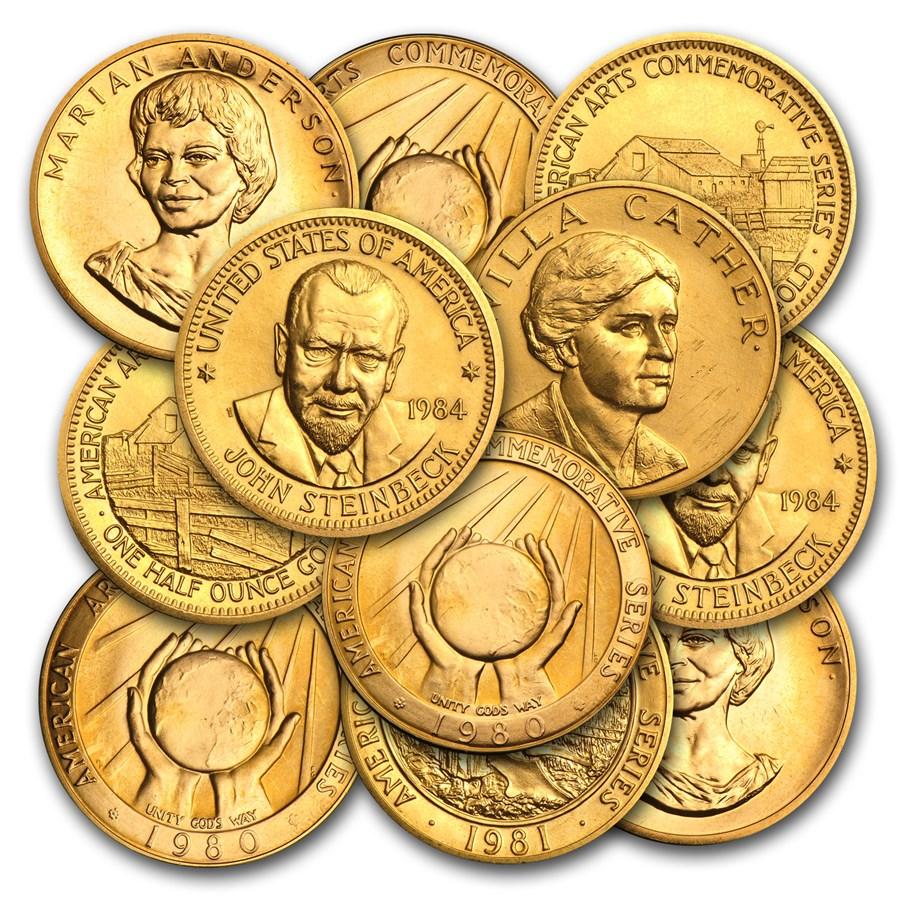 U.S. Mint 1/2 oz Gold Commemorative Arts Medal (Random)