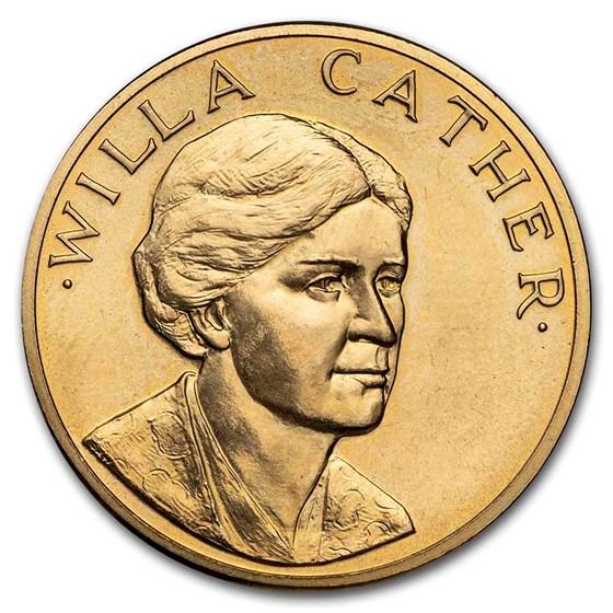 U.S. Mint 1/2 oz Gold Commemorative Arts Medal Willa Cather