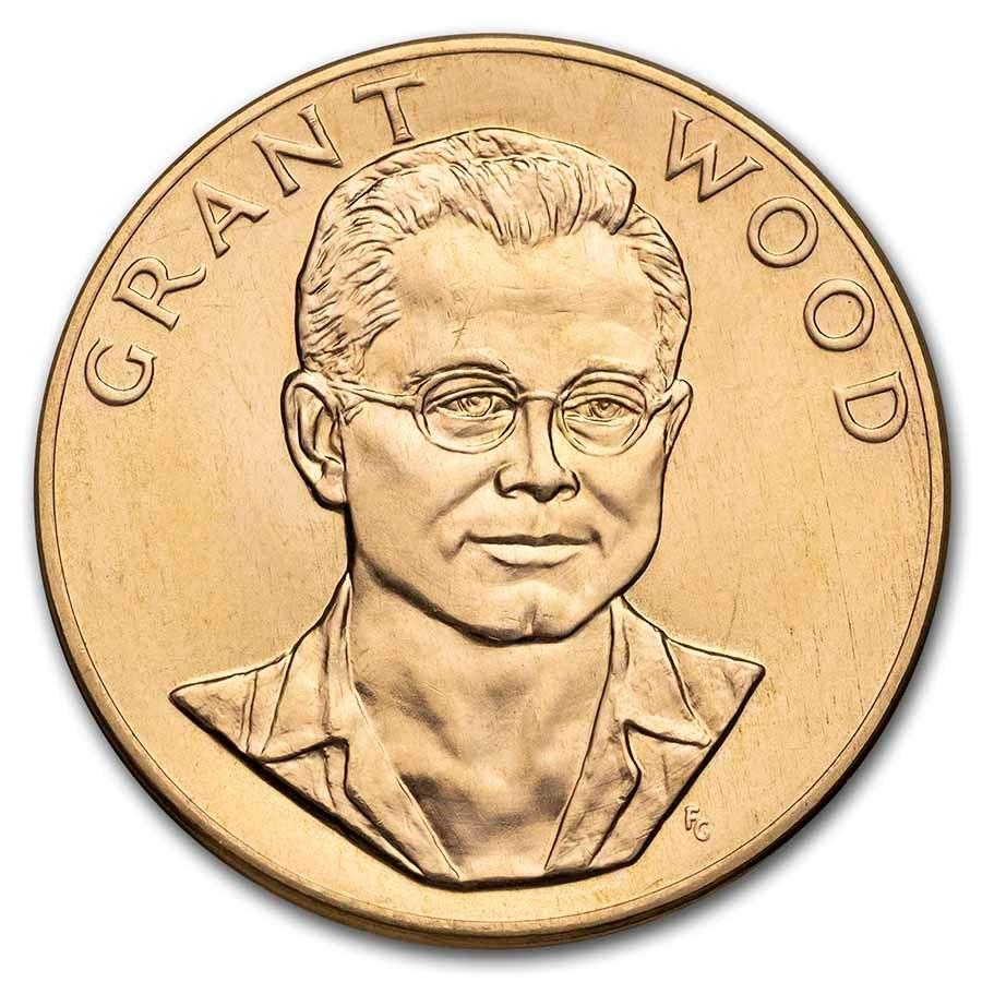 U.S. Mint 1 oz Gold Commemorative Arts Medal Grant Wood