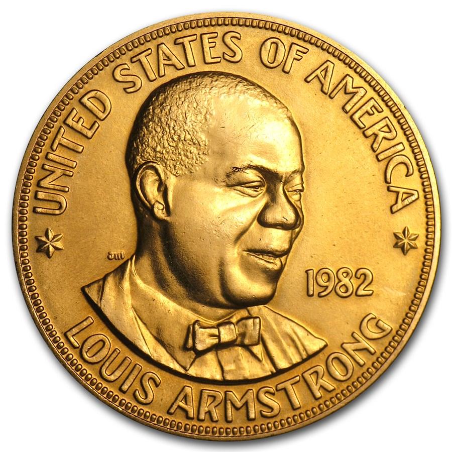 U.S. Mint 1 oz Gold Commemorative Arts Medal Louis Armstrong