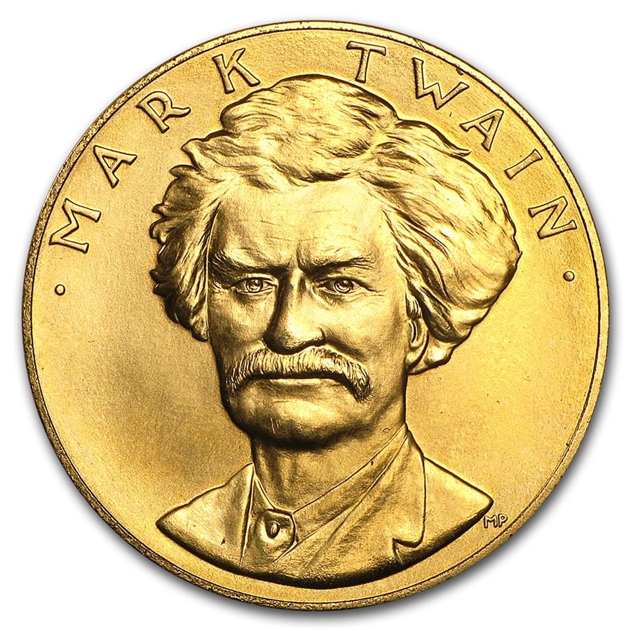 U.S. Mint 1 oz Gold Commemorative Arts Medal Mark Twain