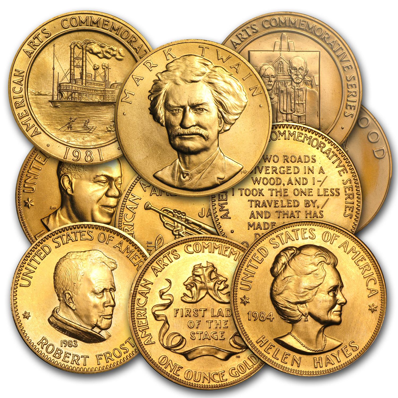 Random Year U.S Mint 1 oz Gold Commemorative Arts Medal