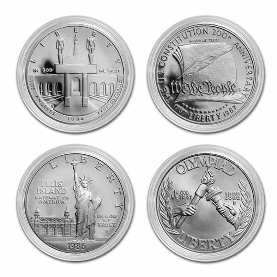 U.S. Mint $1 Silver Commem BU/Proof (ASW .7734 oz, Capsule Only)