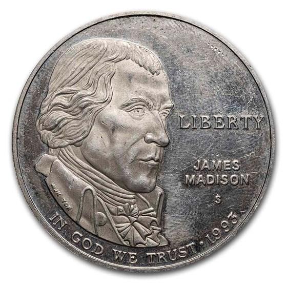 U.S. Mint $1 Silver Commem BU/Proof (ASW .7734 oz, Scruffy)