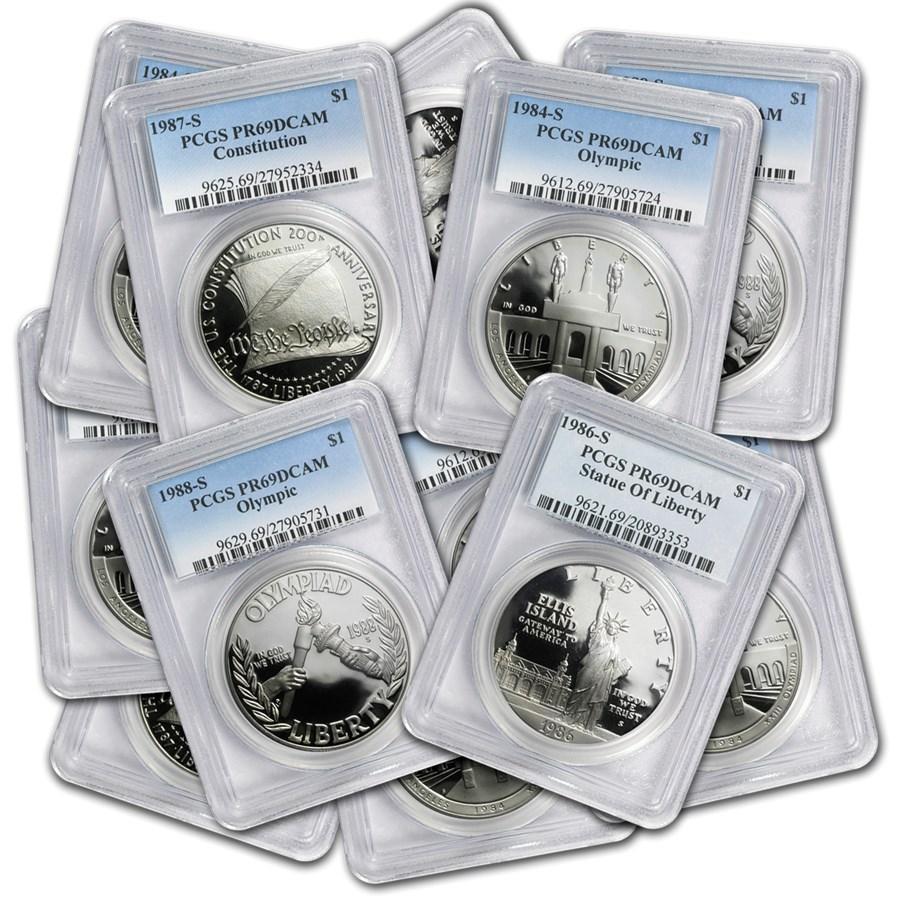 U.S. Mint $1 Silver Commem MS/PR-69 PCGS
