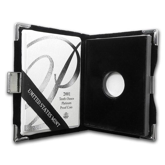 U.S. Mint Box - 2001 1/10 oz Platinum Eagle Proof Coin