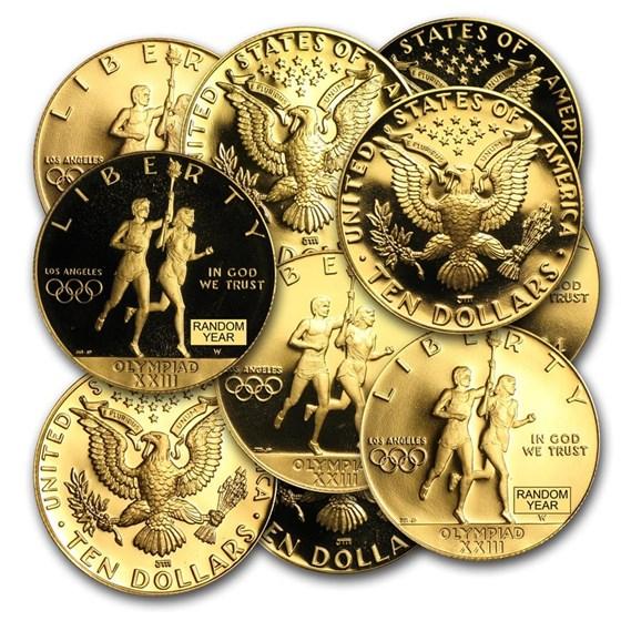 U.S. Mint Gold $10 Commem BU/Proof (AGW .4838 oz, Capsule Only)
