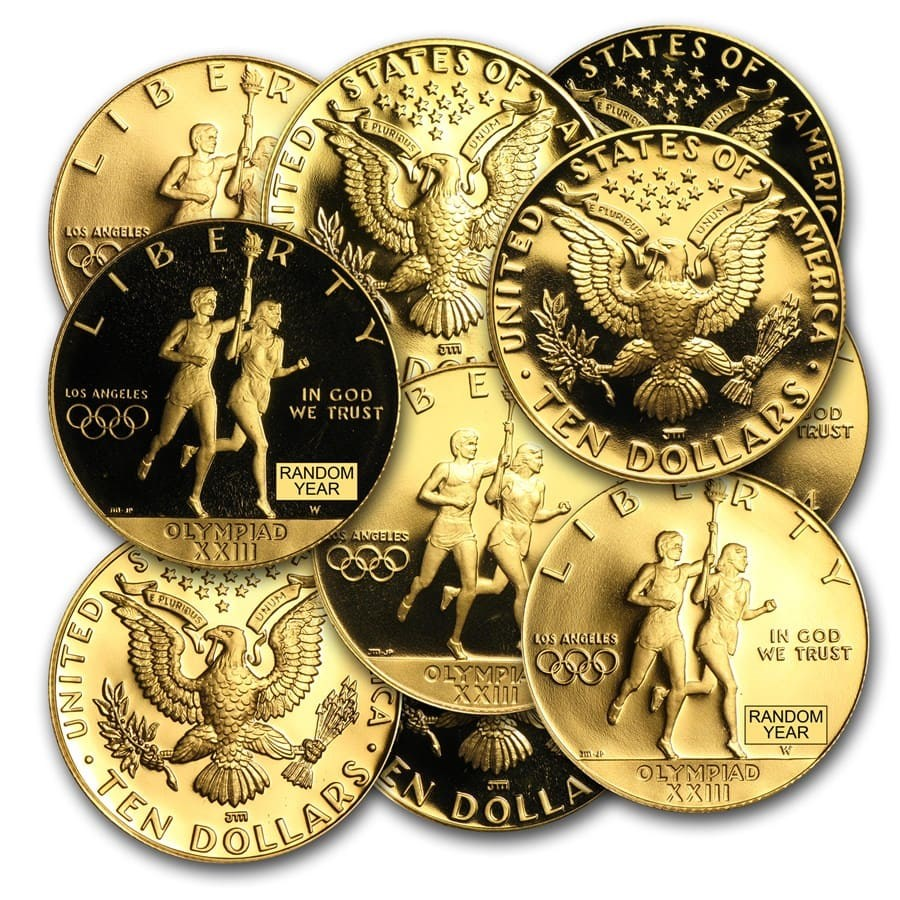 U.S. Mint Gold $10 Commem BU/Proof (AGW .4838 oz, Random)
