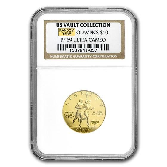 U.S. Mint Gold $10 Commem MS & PF-69 NGC/PCGS