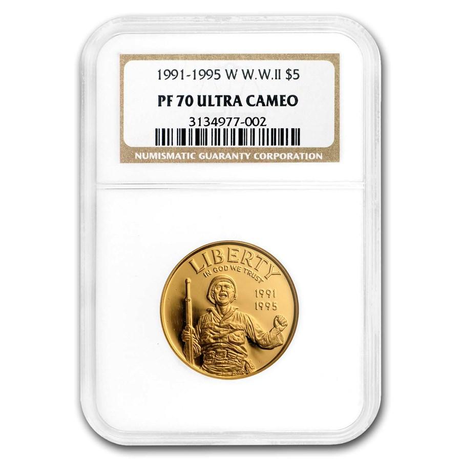 U.S. Mint Gold $5 Commem MS & PF-70 NGC/PCGS