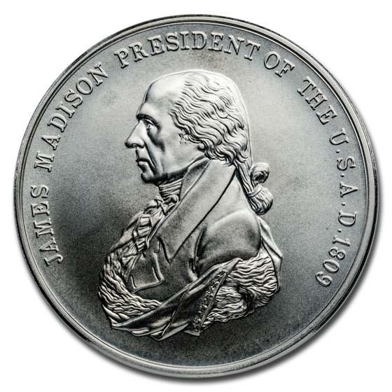 U.S. Mint Silver James Madison Presidential Medal