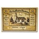 (Undated) Notgeld Hohenfriedeberg 25 Pfennig CU (Pale Green/Tan)
