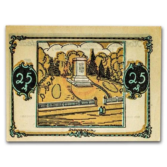 (Undated) Notgeld Tangstedt 25 Pfennig CU (White/Tan/Lt Green)