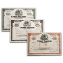Union Pacific Corporation Stock Certificate - Set of 3