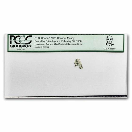 Unknown Series $20 FRN PCGS D.B. Cooper '71 Ransom Money