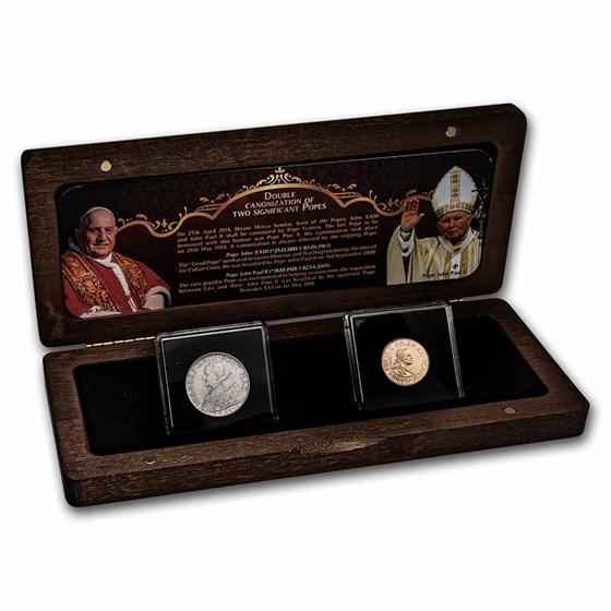 Vatican City Double Canonization 2-Coin Set BU