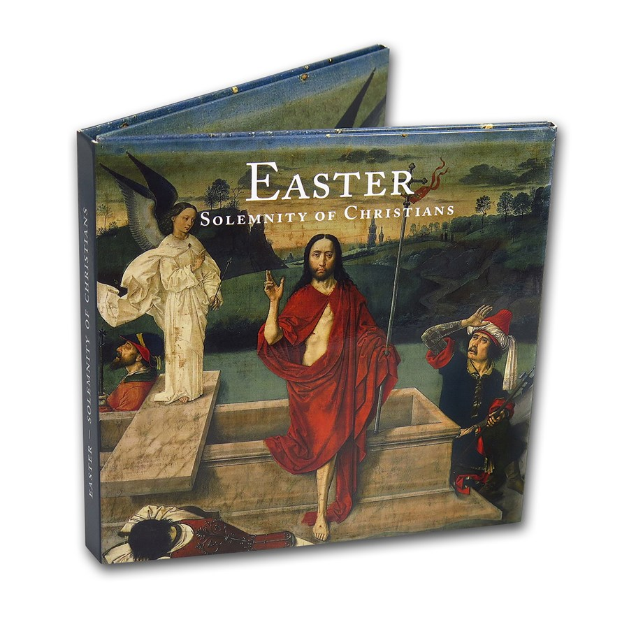 Vatican City Easter 2-Coin + Stamp Set BU