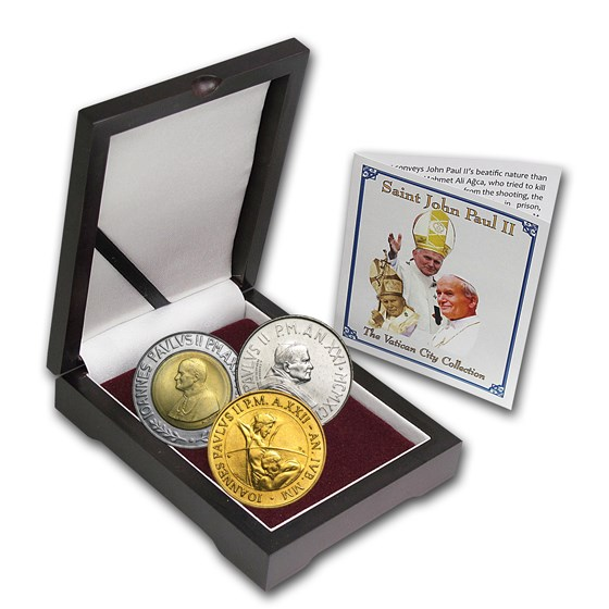 Vatican City St. John Paul II 3-Coin Set