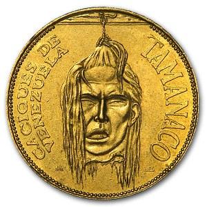 Venezuela 20 Gramos Gold De Oro Puro Decapitated Design