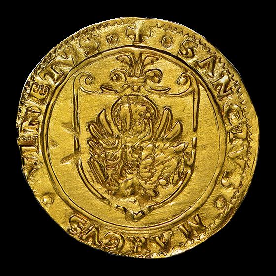 Venice Gold Scudo d'Oro Andrea Gritti (1523-39 AD) AU-58 NGC