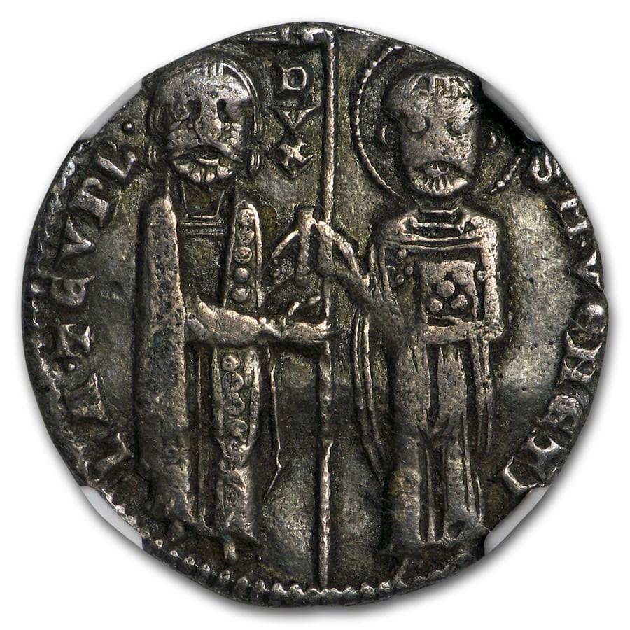 Venice Silver Grosso Lorenzo Tiepolo (1268-75 AD) VF-30 NGC