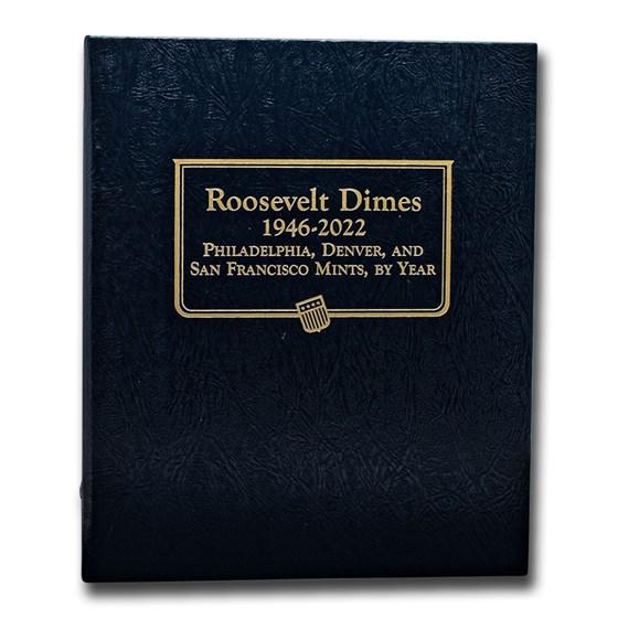 Whitman Coin Album #3394 - Roosevelt Dimes 1946-2022
