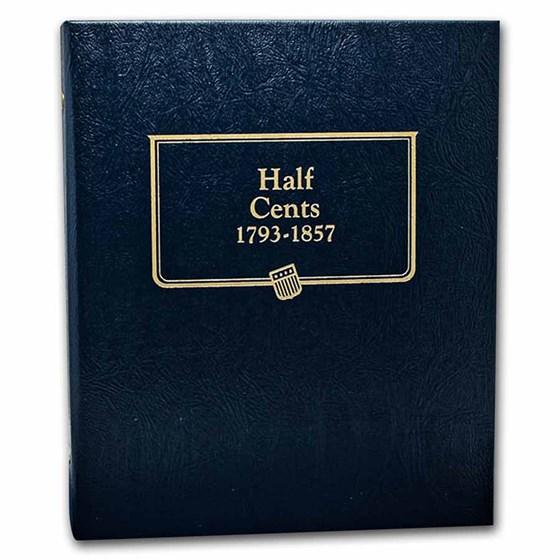 Whitman Coin Album #9109 - Half Cents 1793-1857
