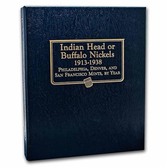 Whitman Coin Album #9115 - Buffalo Nickels 1913-1938