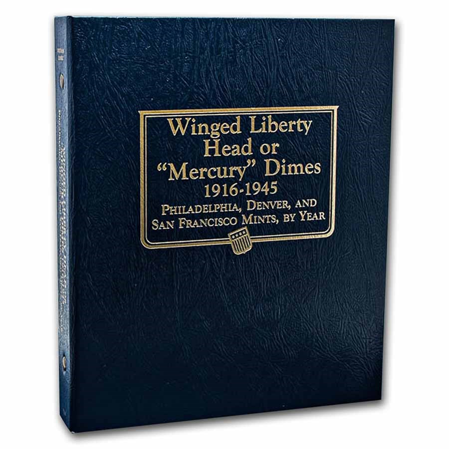 Whitman Coin Album #9118 - Mercury Dimes 1916-1945