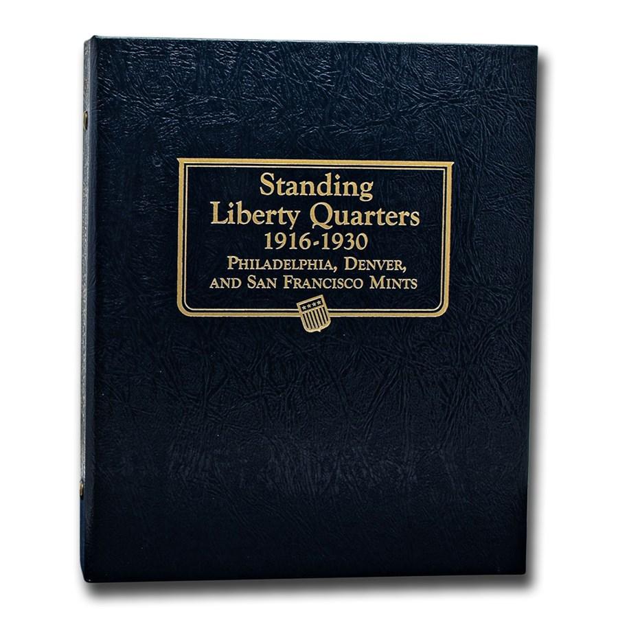 Whitman Coin Album #9121 - Liberty Standing Quarters 1916-1930