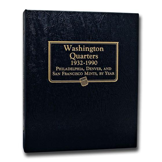 Whitman Coin Album #9122 - Washington Quarters 1932-1990