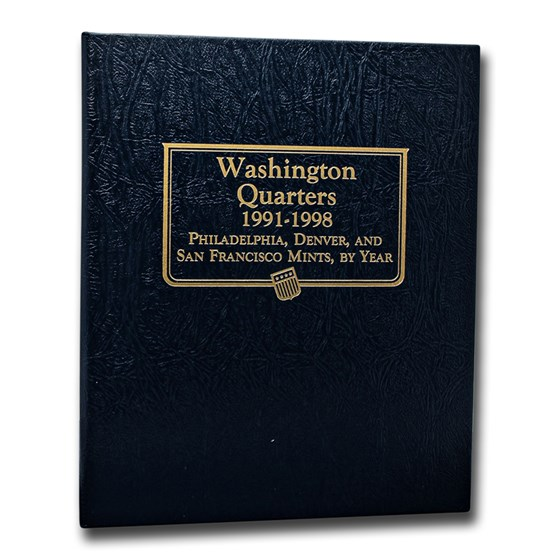 Whitman Coin Album #9123 - Washington Quarter 1991-1998